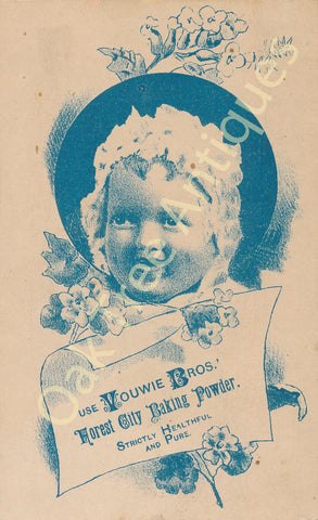 Victorian Trade Card - Vouwie Bro's. Forest City Baking Powder - Baby's Portrait