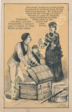 Victorian Trade Card - Allen's Lung Balsam - Wife wants Pain Killer and Lung Balsam