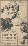 Victorian Trade Card - Excelsior Clothiers Cleveland, Ohio - Moses in the Bull-Rushes