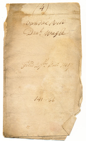 1817 Vendue List (last page only) - Daniel Wagle, Beaver Co., PA