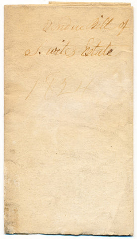 1824 Vendue List - S. White, Beaver Co., PA