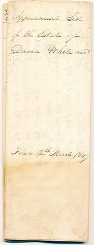 1849 Appraisal for property of David White, Shenango Twp., Beaver Co., PA