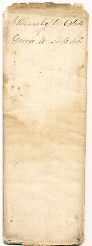 1837 Estate Settlement, George Noss, Beaver Co., PA