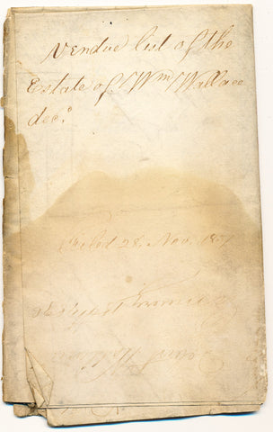 1836 Vendue List - William Wallace, Beaver Co., PA