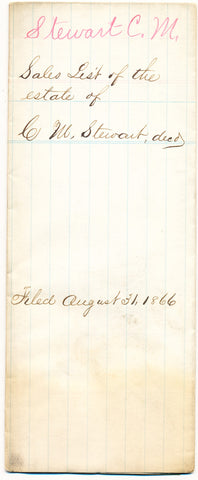 1866 Vendue List - C. M. Stewart, Beaver Co., PA