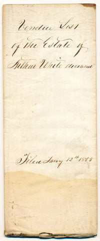 1855 Vendue List - Arthur White, Beaver Co., PA