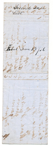 1856 Vendue List - William McQuiston, Beaver Co., PA
