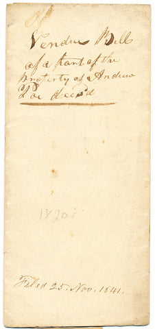 1823 Vendue List - Andrew Poe, Beaver Co., PA