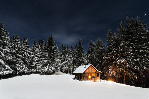 remote cabin solar lighting