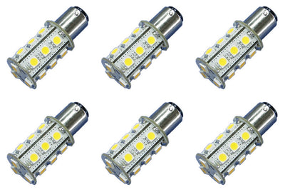 18x 5050 12V-24V DC Tower LED Light Bulb BA15s 1156 Car Boat Yacht Lamp