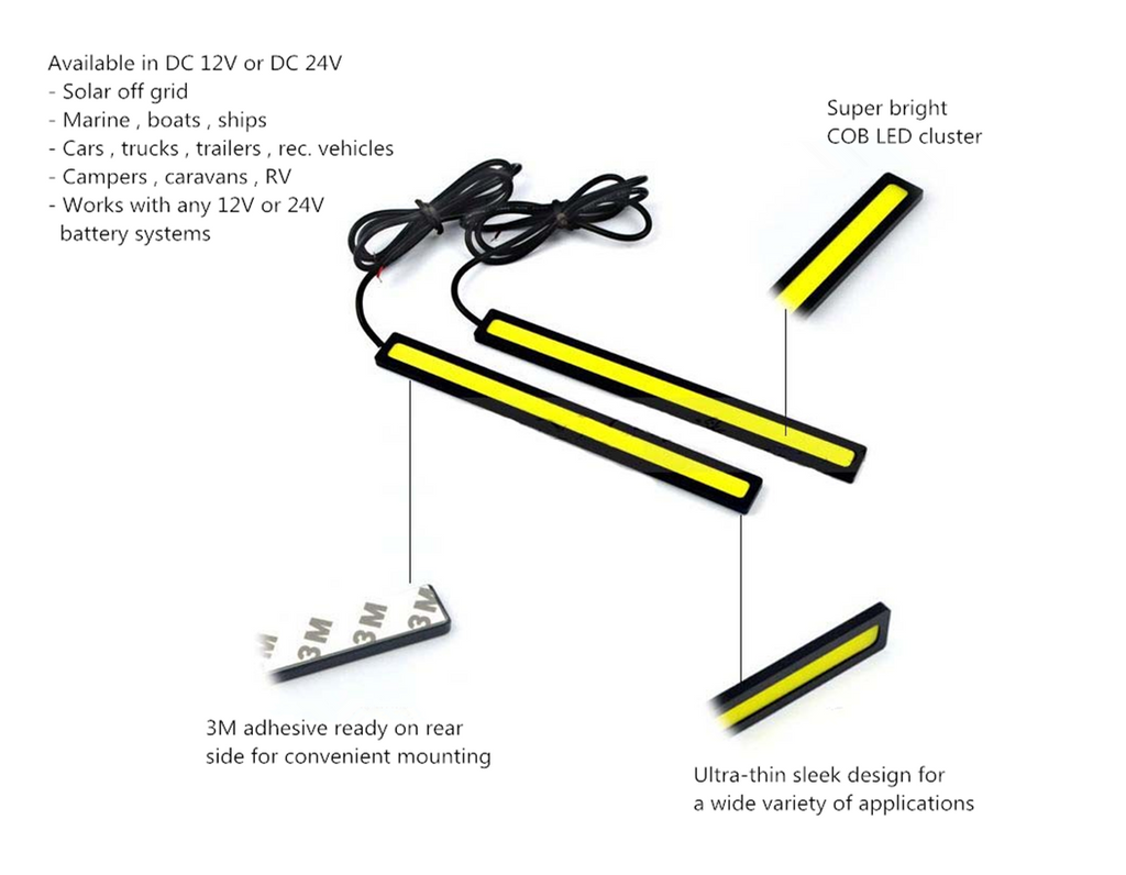 Cob led bar for under vehicle lighting discount 2 packfree light bar lighting strip 24 volt cob led aloadofball