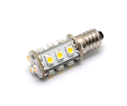 AC/DC 12V-24V 1.8W 15x 3528 cluster LED light bulb E10 Mini Screw fitting Lamp #1447 replacement