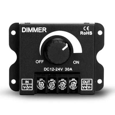 DC 12V-24V PWM LED Lighting Dimming Device LED Strip Dimmer 30A