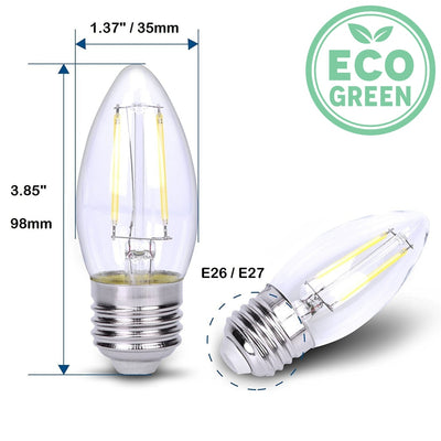 12V 24V 36V 2W E26 E27 B11 Medium Base Cob Filament Led Light Bulb Light Bulb