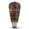 ST64 3D Fireworks LED Light Bulb l Sparkling Colors