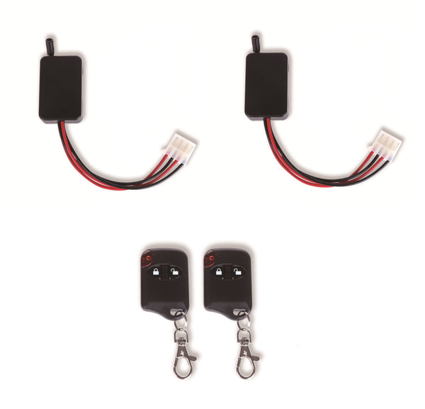 2x Remote 2x Receiver 6 Volt Double Control Wireless Power Switch Set Up To 2 Decoys 6V Battery