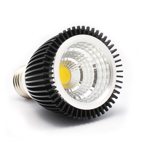 DC 12V COB LED Black Aluminum Spot Light PAR16 Bulb E26 4W 7W 6000k 3000k