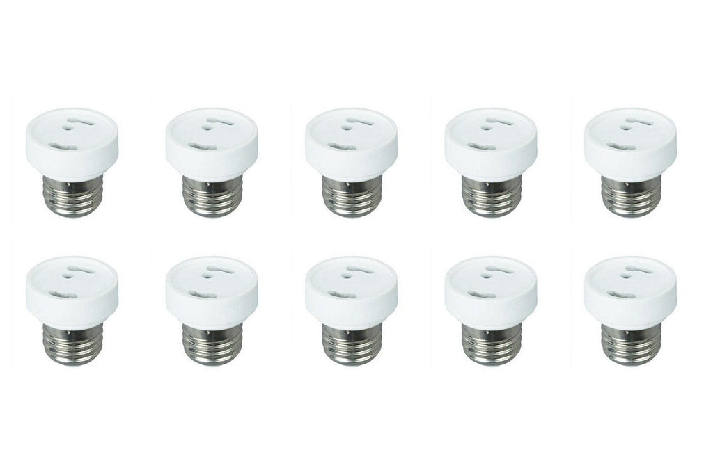 10 Pack Light Bulb Socket Fitting Changer Fixture Adapter ES E26 Edison to GU24