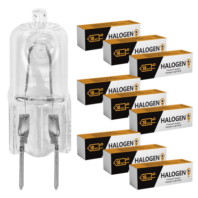 G8 Puck Lighting JCD T4 Replacement Halogen Light Bulb 120V I 10 Pack
