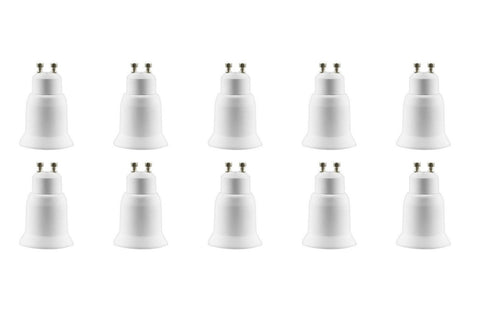 10 Pack Light Bulb Socket Fitting Changer Fixture Adapter GU10 To ES E26 E27
