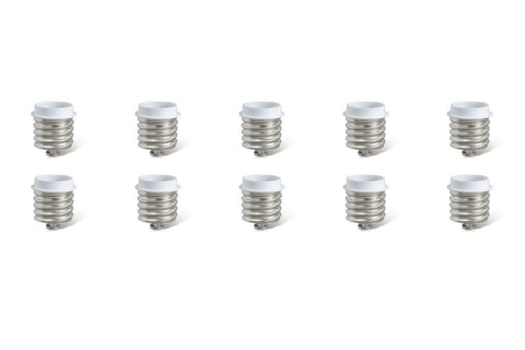 10 PACK Light Bulb Socket Fitting Changer Adapter Giant ES Edison Screw To Medium Base E40 To E27