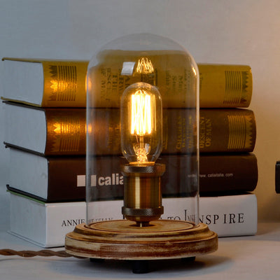Vintage Style Hurricane Mantle Lamp