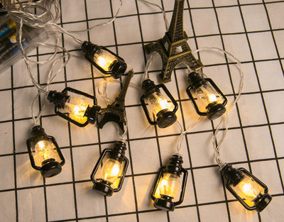 Mini Floating Oil Lantern USB String Light Rope Hanging Oil Lamp