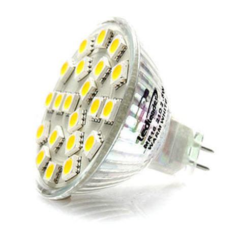 AC/DC 12V-24V 5.25W 21x 5050 cluster LED light bulb MR16 GU5.3 Bi Pin Lamp