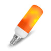 Flame JDD Tubular Shape LED Fire Candle Light Bulb Flaming Flicker E12 E14