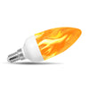 Flame Effect Chandelier LED Fire Candle Light Bulb Flaming Flicker E12 E14