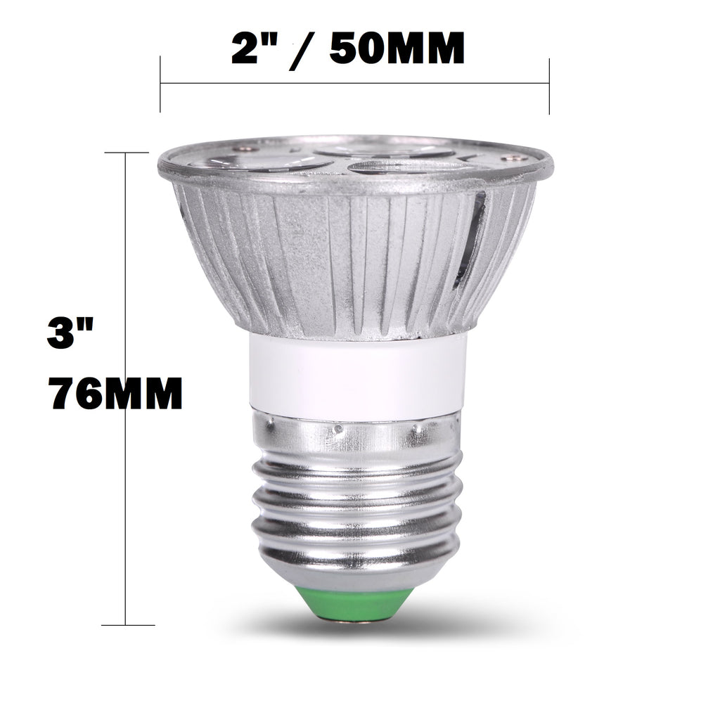 AC/DC 12V 12 Volt 3W 1W x 3 LED Spot Light Bulb E26 E27 PAR16 ...