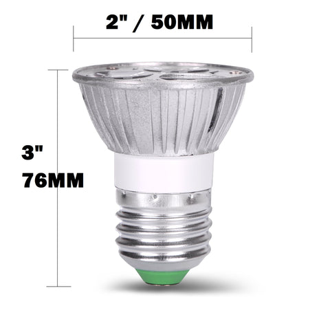 AC/DC 12V 12 Volt 3W 1W x 3 LED Spot Light Bulb E26 E27 PAR16 Screw Socket Lamp