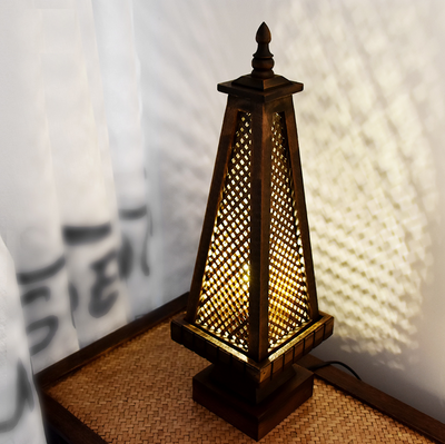 Thailand Style Pagoda Desk Lamp | Relaxing Buddhist SE Asian Theme Table Light