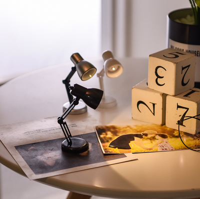 Tiny Miniature Architect Desk Lamp | Cute Gift