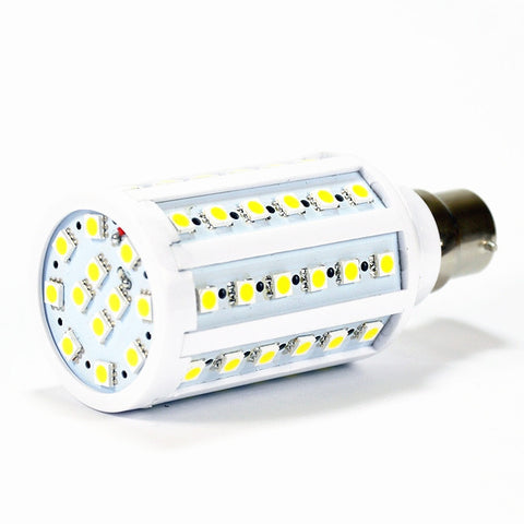 60x 5050 24V - 36V DC LED Light Bulb BC B22 Edison E27 Lamp Solar Marine Lighting