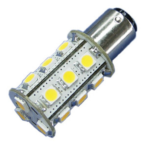 18x 5050 12V-24V DC Tower LED Light Bulb BA15s BA15d 1156 1157 Car Boat Yacht Lamp