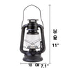 Matte Black Classic Oil Lantern Light Bulb Lamp l Electric