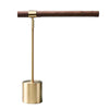 LED Wood Brass Elegant Desk Table Light - Bedroom Study Banker Adjustable Lamp