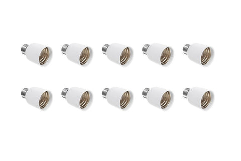 10 Pack Light Bulb Socket Fitting Changer Fixture Adapter ES E26 Edison to GES E40