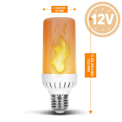 Flame Effect Dc 12 Volt Led Fire Light Bulb Flaming Flicker E26 E27 Lamp Light Bulb