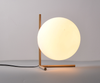 Simplistic Glass Orb Desk Bed Side Table Lamp I Floating Ball Style 12""