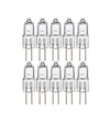 G4 15W AC/DC 12V Clear Lense Halogen Light Bulb JC Track Light 2Pin 10 Pack