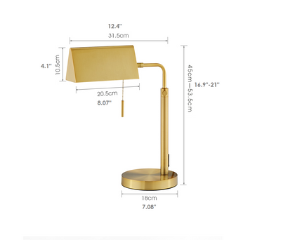 Full Gold King Midas Big Bankers Desk Table Lamp I Desktop Bed Side Lighting