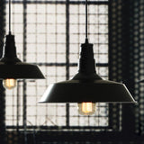 Loft High Ceiling Hanging Vintage Edison Half Bare Pendant Lamp Dining Kitchen