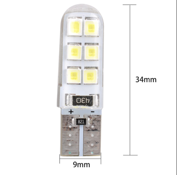 T10 2835 Chipset Dc 12v Wedge Led Light Bulb 168 194