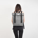 Grey Rolltop Backpack