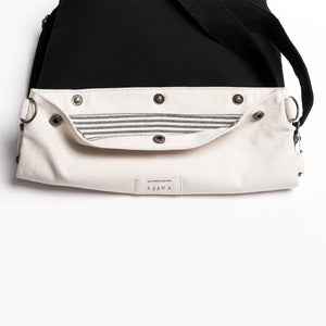 Black & Cream White Rollie Bag