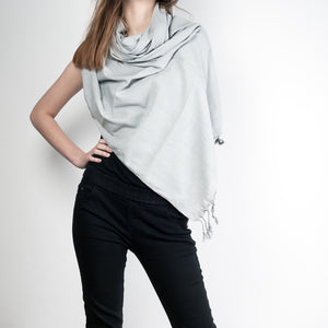 Bamboo Cotton Shawl - Grey
