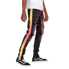 KDNK 'TIe-Dye Striped' Jeans