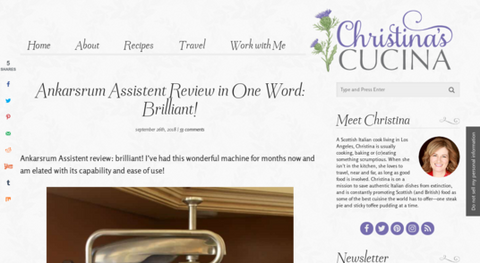 Ankarsrum Assistent Review - Christina Cucina